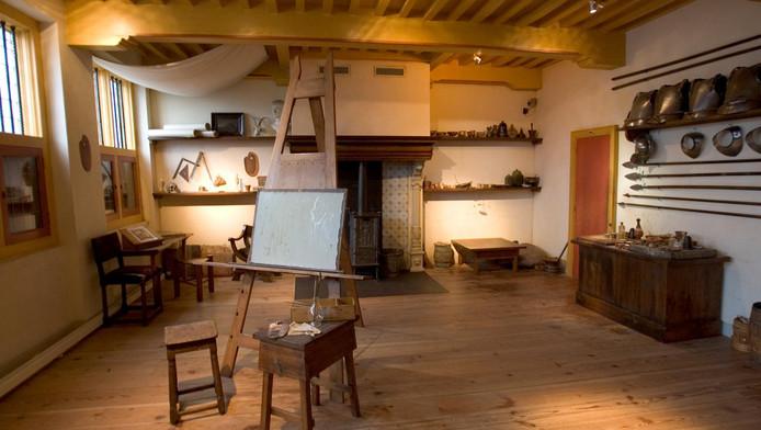 Het atelier van Rembrandt, het Rembrandthuis.