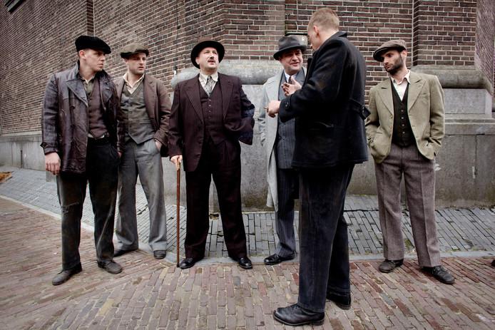 Opname van de film 'De Bende van Oss' in 2011 in Ravenstein.
