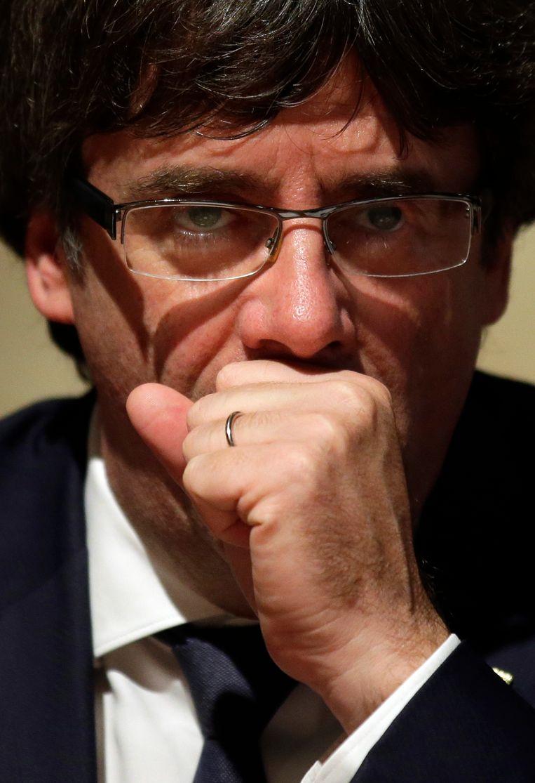Carles Puigdemont, premier van Catalonië Beeld AP