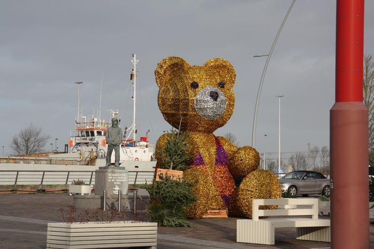 De beer was vorig jaar de blikvanger op de Kaai in Nieuwpoort