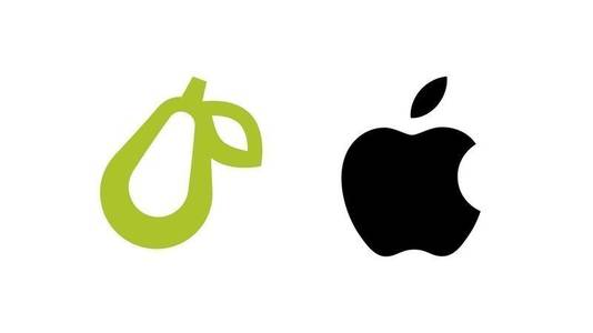 Oordeel zelf over de gelijkenis tussen de logo's.