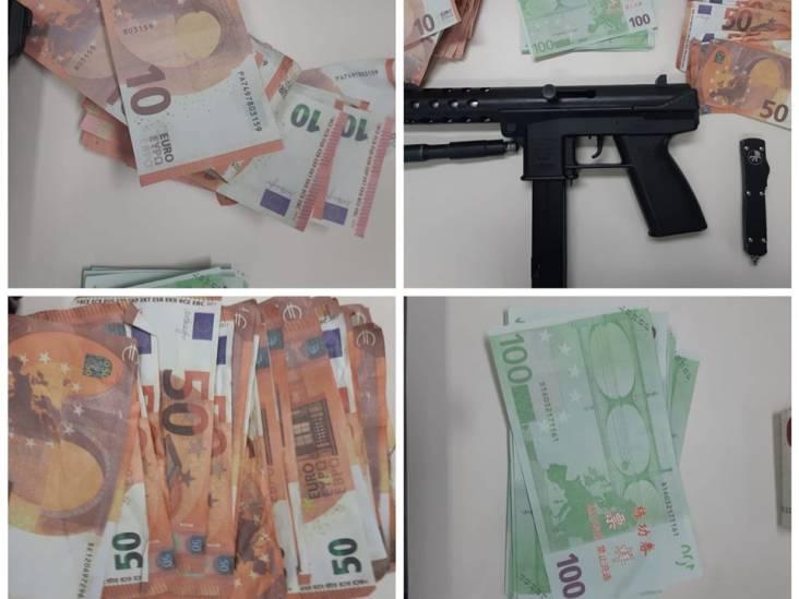 4200 euro vals geld en wapens gevonden in woning Breda