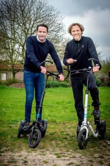 Me-mover, een fitnessstep op drie wielen