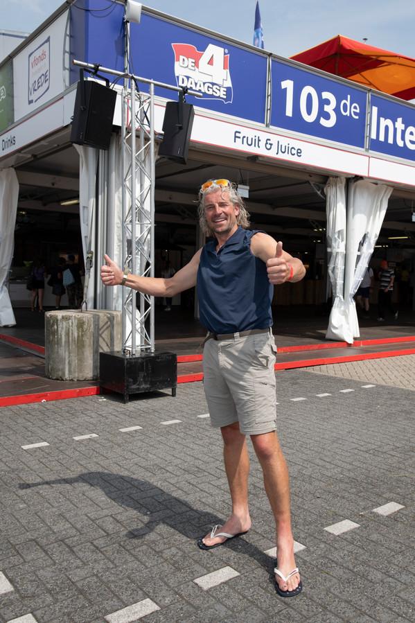 Ferry Mosch, als wandelaar.