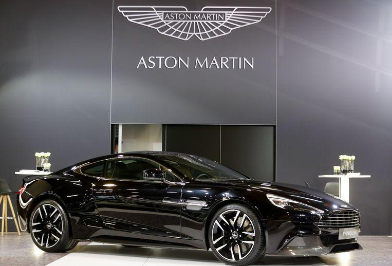 Een Aston Martin op het autosalon in Brussel.
