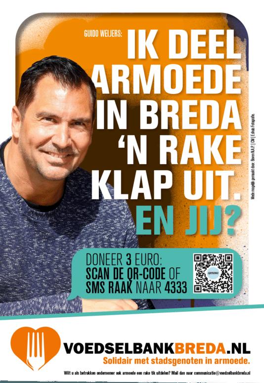 Campagne voedselbank Breda, met Guido Weijers.