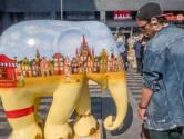 Tilburg: binnenstad even reservaat voor een kudde beschilderde olifanten