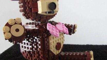 Hebt u dit Lego-beertje in de Kortrijksestraat al gespot?