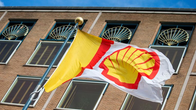 Vlak bij hoofdkantoor van Shell Beeld anp