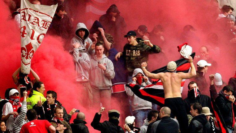 Buiten de gevangenis groeide Polletje uit tot een invloedrijk figuur binnen de harde kern van Ajax-supporters Beeld anp