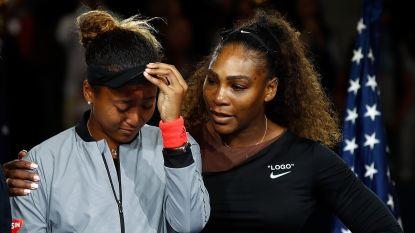 Wat Serena Williams fluisterde in het oor van Naomi Osaka