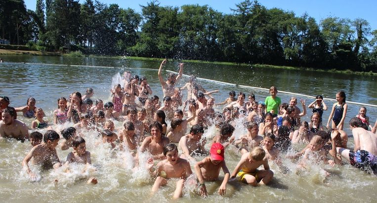 De leden bezochten al een zwemvijver