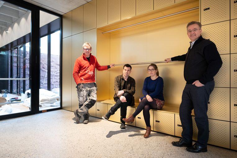 MECHELEN Nieuwe gebouwen voor nona: Axel Doumen, Bart Vanvoorden, llse Thienpont en Louis De Wael