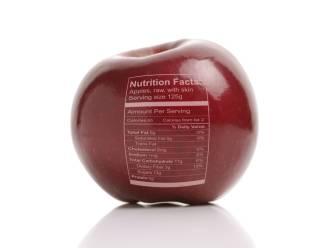 Opgelet met opschrift: 'Geldt als portie fruit of groenten'