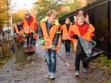 Megan (7): 'Gooi afval in de prullenbak, niet op de straat'