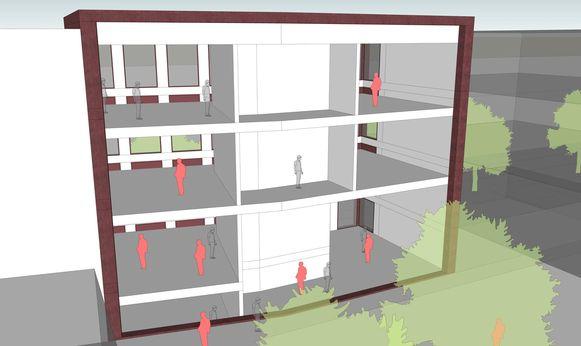 Een simulatie van de nieuwbouw.