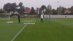 De kop is eraf: Hein Vanhaezebrouck leidt zijn eerste training bij Anderlecht