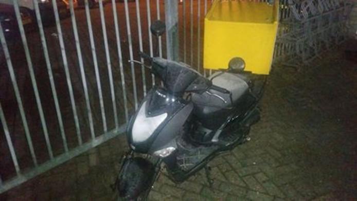De scooter was voorzien van een volgsysteem.