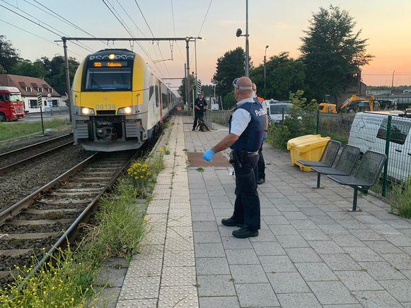 Op de trein richting Beervelde werden in totaal 32 transmigranten ingerekend.