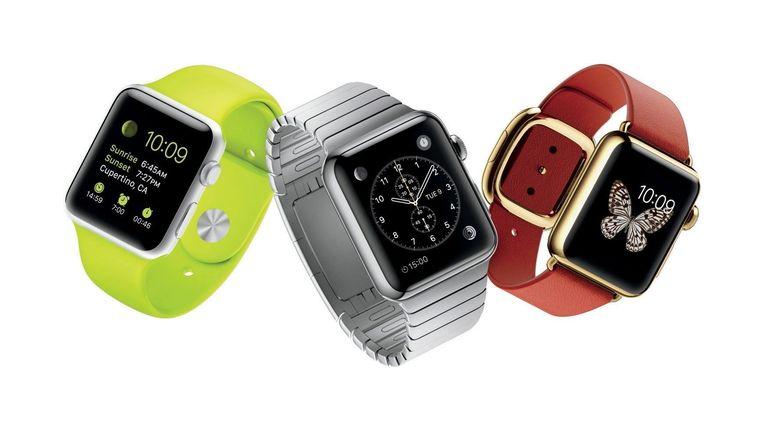 De Apple Watch zal verkrijgbaar zijn met bandjes in zes verschillende uitvoeringen. Beeld Apple