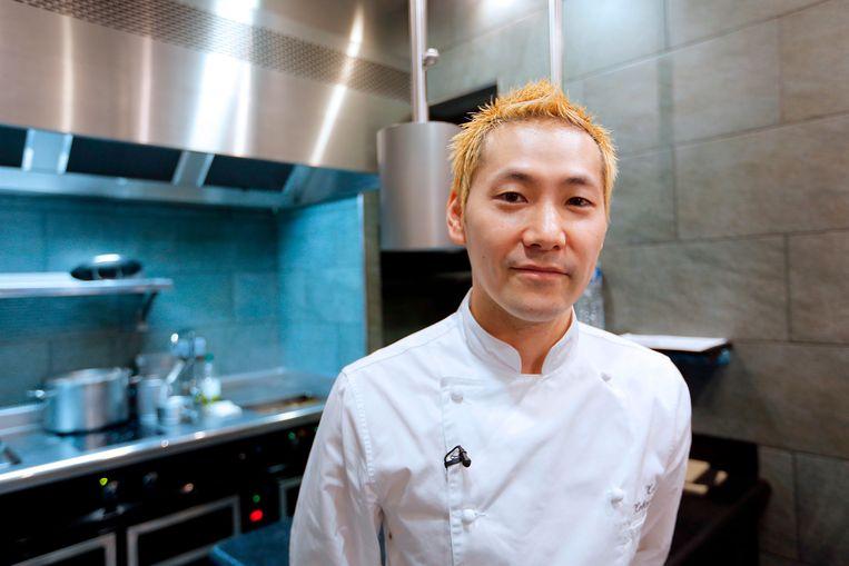 De Japanse chef Kei Kobayashi.  Beeld AFP