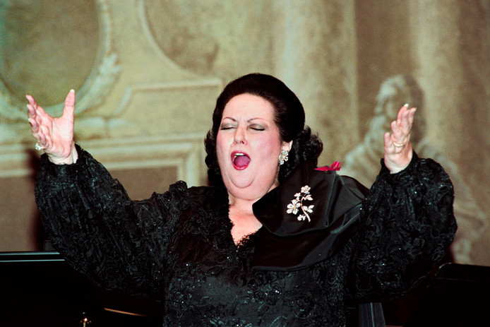 Caballé in 1993 in Parijs.