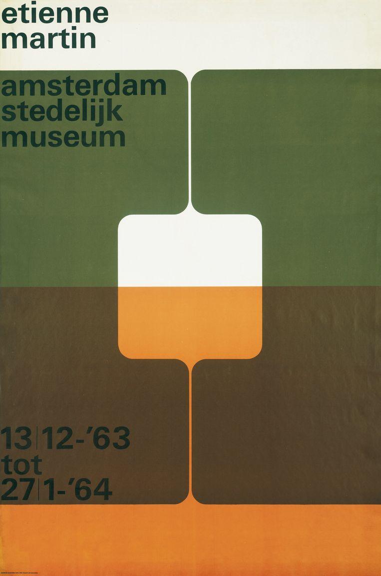 Poster van Wim Crouwel. Beeld Stedelijk Museum Amsterdam
