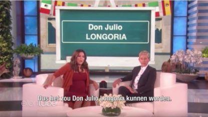 Ellen Degeneres helpt Eva Longoria aan een naam voor haar ongeboren zoon