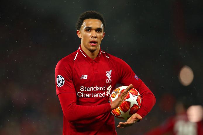Trent Alexander-Arnold in het shirt van Liverpool.