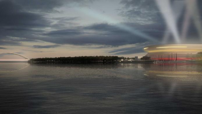 Een stadion aan de Maas, zoals ook in 2008 het plan was, is weer een stap dichterbij voor Feyenoord.