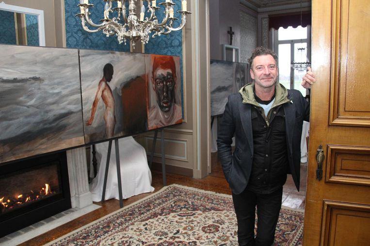 Danny Cobbaut bij de elfdelige reeks 'Piron', naar de naam van het model.