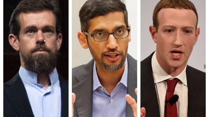 """CEO's van Google, Facebook en Twitter vrezen """"instorting van manier waarop we online communiceren"""""""