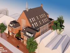 Verpauperde kerk in Smedenstraat Deventer in 2020 omgetoverd tot appartementencomplex