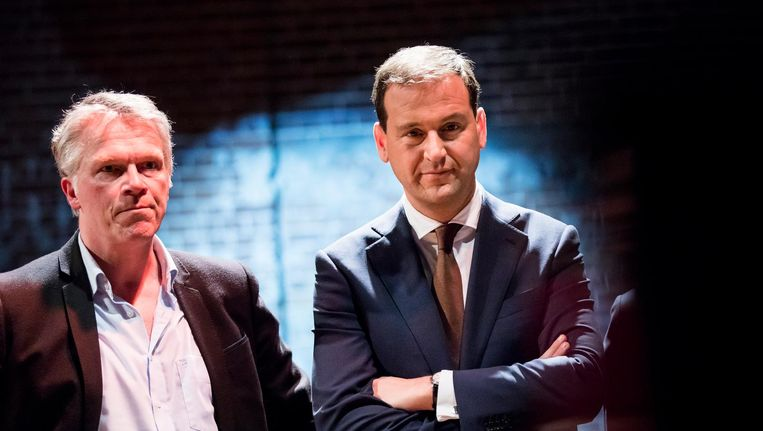 Wouter Bos en Lodewijk Asscher. Beeld anp
