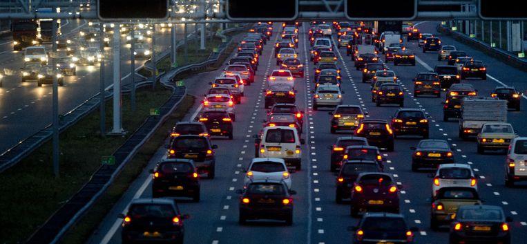De A4 bij Amsterdam begin vorige week. Beeld anp