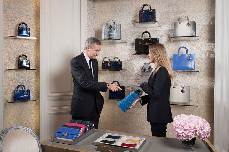 De Franse miljardair Bernard Arnault van Louis Vuitton Moët Hennesy is de grootste stijger.