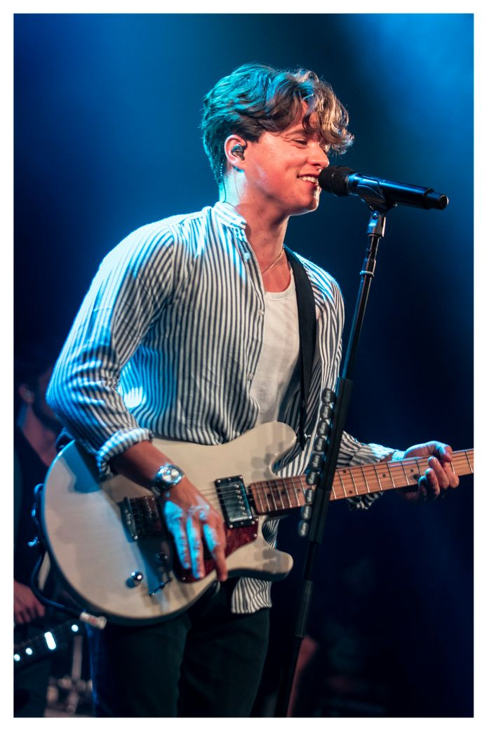 Brad van The Vamps in Ancienne Belgique, Brussel.