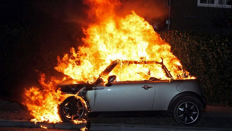 Archieffoto van een autobrand in Vught. Beeld ANP