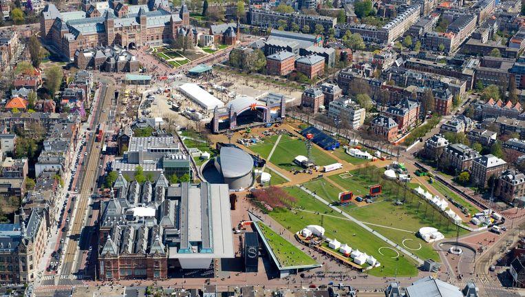 Het Museumplein gezien vanuit de lucht Beeld anp