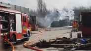 Bulldozer brandt volledig uit op terrein Remondis Depoorter