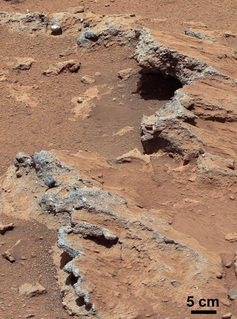 Rotsformatie Hottah op Mars. Beeld NASA