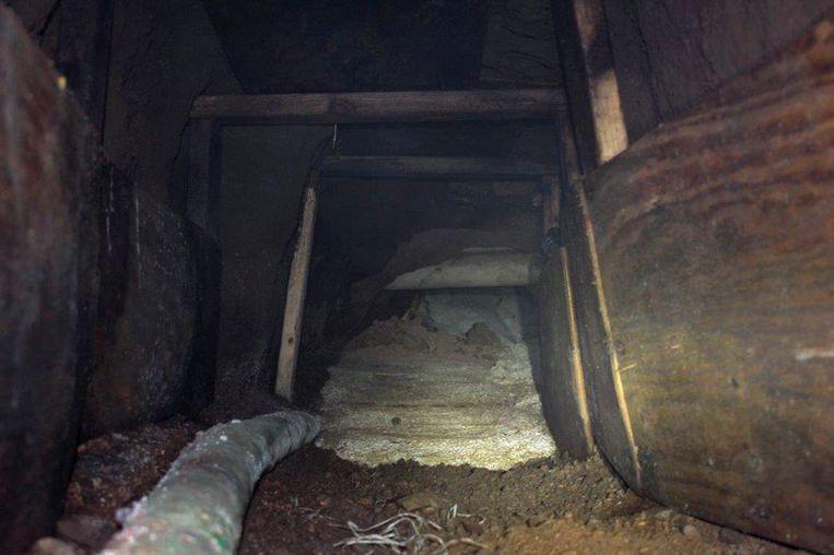 Archieffoto van een illegale tunnel onder de Mexicaans-Amerikaanse grens.