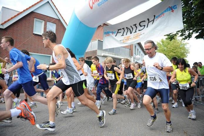 De start van de 10 kilometer in 2012.