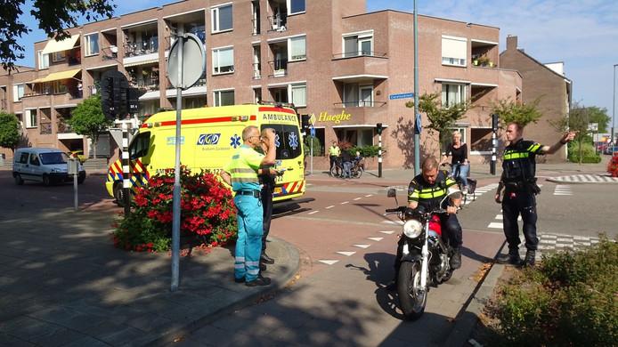 Een motorrijder kwam ten val in Valkenswaard.