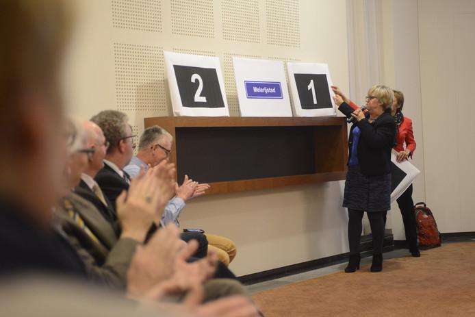 Burgemeester Eugster van Schijndel onthult de naam Meierijstad