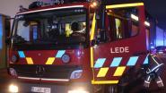 Brandweerposten Lede en Aalst in de weer voor schouwbrand langs Klinkaard