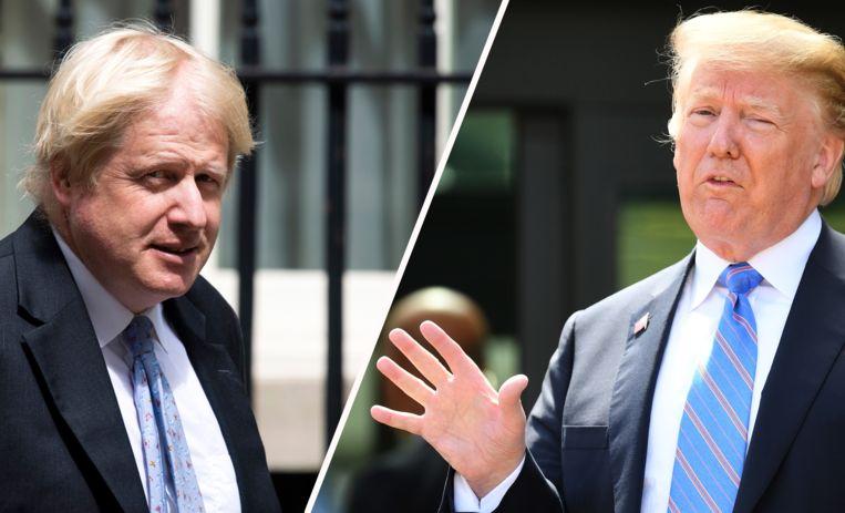 Boris Johnson en Donald Trump.
