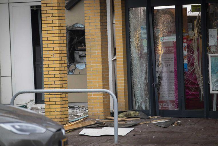Het centrum van Ouderkerk aan de Amstel werd begin november afgesloten na een plofkraak op een ABN AMRO-geldautomaat.  Beeld ANP