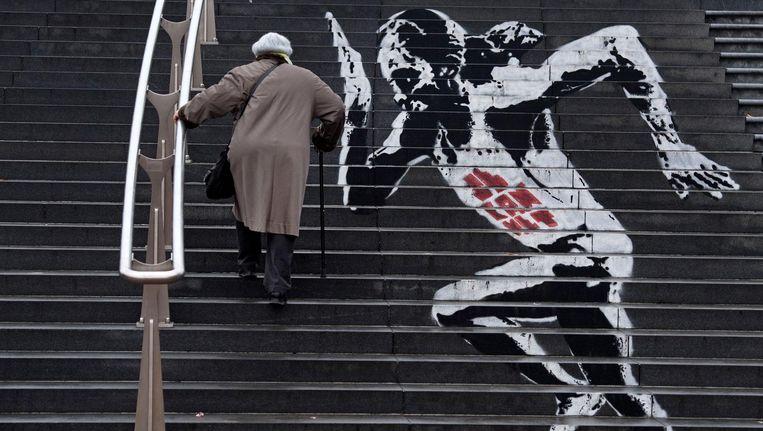 De trappen naar de Amsterdamse Poort. Beeld anp