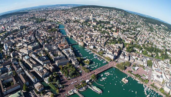 De Zwitserse stad Zürich.